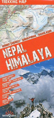 9788361155270: Himalaya Nepalí: Everest 1:115. 000. Annapurna & Dhaulagiri 1:150.000. Kathmandú 1:30 000. Nepal 1:1.100.000, Mapa excursionista plastificado. terraQuest. (Trekking map)
