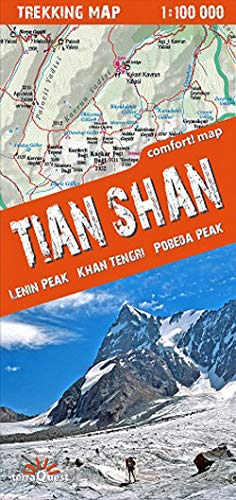 9788361155393: Tian Shan, mapa excursionista. Escala 1:100.000. Terra Quest (Trekking map)