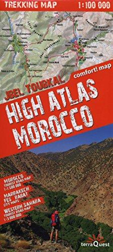 9788361155416: Alto Atlas de Marruecos, mapa excursionista plastificado. Escala 1:100.000. TerraQuest. (Trekking map)