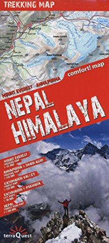 9788361155423: Himalaya Nepalí, mapa excursionista plastificado. Escala 1:100.000. TerraQuest. (Trekking map)