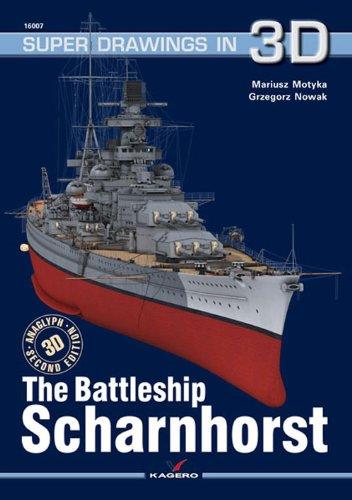 9788361220381: Battleship Scharnhorst (Super Drawings in 3D 16007A)