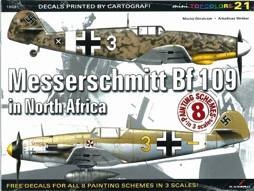 9788361220848: Messerschmitt Bf 109 in North Africa (Topcolors Series KG15021) (Mini Topcolors)