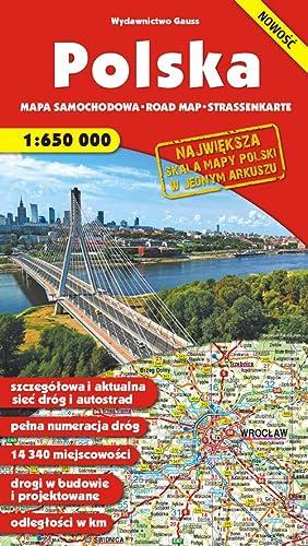 Polska mapa samochodowa 1:650000