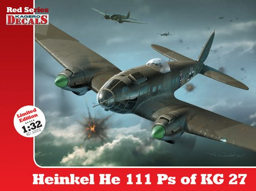 9788362878314: 1/32 Heinkel He 111 Ps of KG 27 (Red Series Kagero Decals)