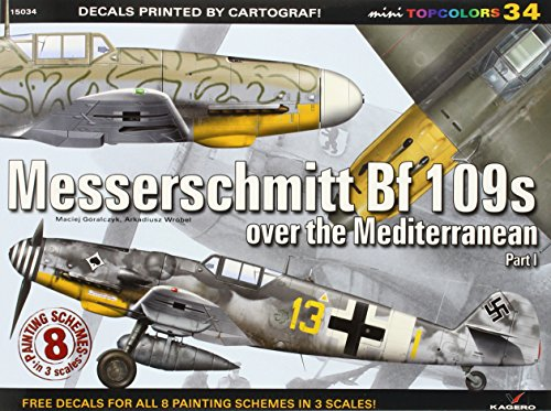 9788362878581: Messershcmitt Bf 109s Over the Mediterranean. Part 1 (Mini Topcolors)