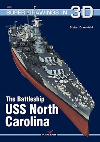 9788364596360: The Battleship USS North Carolina (Super Drawings in 3D)