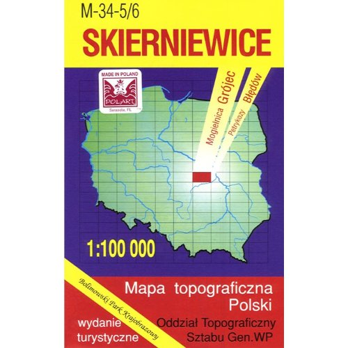 9788371350832: Skierniewice Region Map