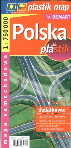 Polska 1:750 000 mapa samochodowa laminowana