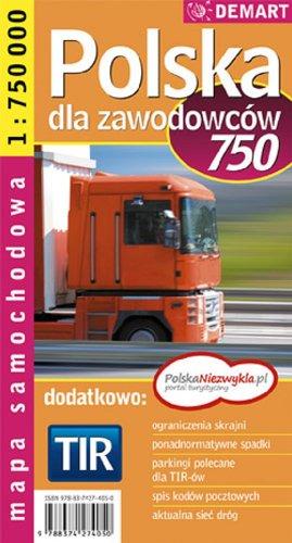 Polska dla zawodowcow Mapa samochodowa 1:750 000