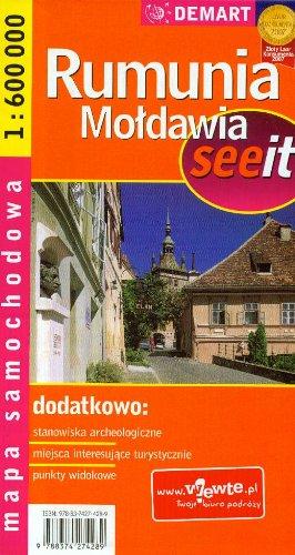 Rumunia. Moldawia. Mapa samochodowa. 1:600 000 Demart