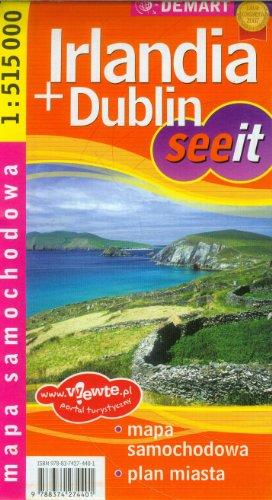 Irlandia+Dublin seeit mapa samochodowa 1:515000