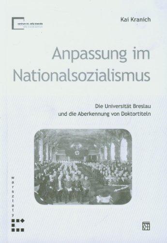 9788374327886: Anpassung im Natiolnalsozialismus