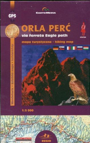 9788374990028: Orla Perc via ferrata Mapa turystyczna 1:5 000