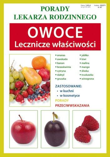 9788375278538: Owoce Lecznicze wlasciwosci: Porady lekarza rodzinnego