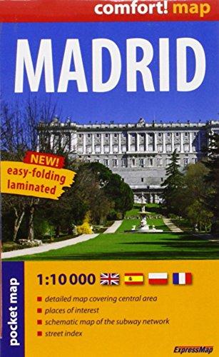 9788375460506: Madrid, plano callejero plastificado de bolsillo. Escala 1:10.000. ExpressMap. (Comfort ! Map)