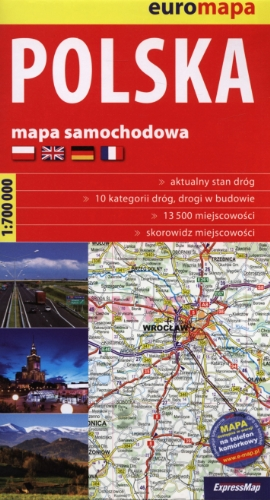 9788375460742: Polska mapa samochodowa 1:700 000