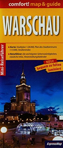 9788375461299: Warschau (Comfort !Map&Guide, Carte Laminee) (All)