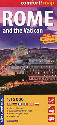 Rzym i Watykan laminowany plan miasta 1:15