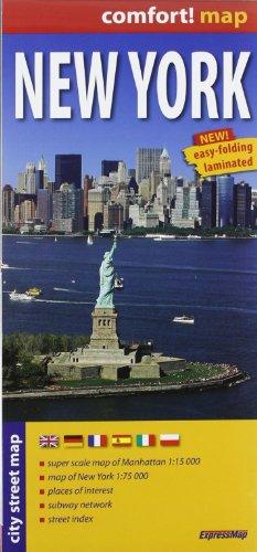 9788375462265: Nueva York, plano calejero plastificado. Escala 1:17.500. ExpressMap. (City Plans)