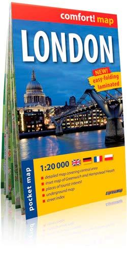 9788375462494: Londres, plano callejero de bolsillo plastificado. Escala 1:20.000. ExpressMap. (Comfort ! Map)