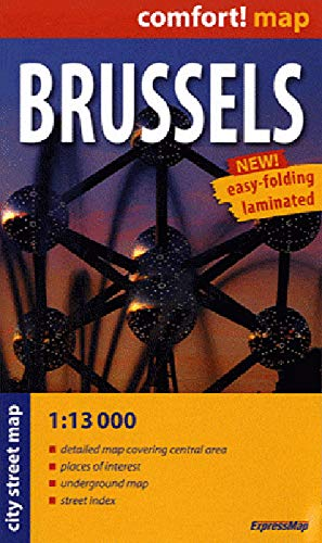 9788375462500: Brussels : City street map, 1/13 000 (Comfort ! Map)