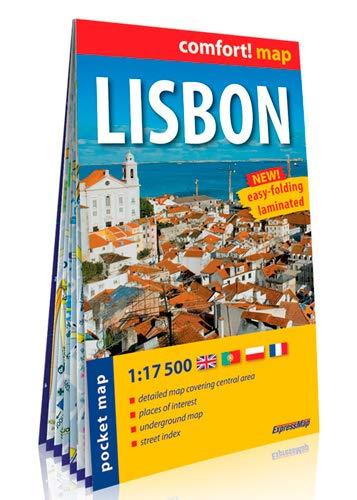 9788375462647: Lisboa, plano callejero plastificado de bolsillo. Escala 1:17.500. ExpressMap. (Comfort ! Map)