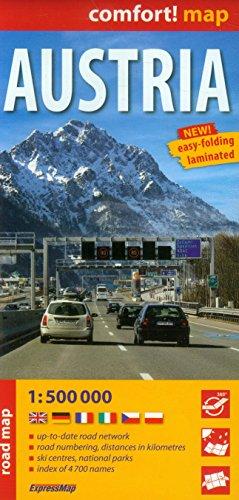 Austria. Mapa samochodowa. 1:500 000 ExpressMap