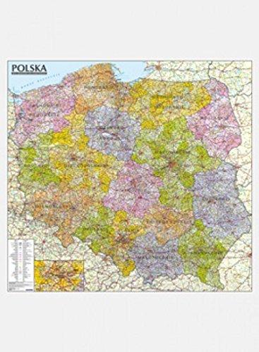 Polska mapa administracyjno-samochodowa