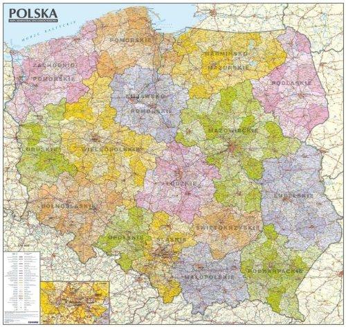 Polska mapa administracyjno-samochodowa 1:570 000