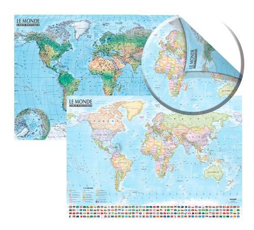 9788375466454: Carte du monde politique et physique : Carte murale double face, laminée, sans barres alu