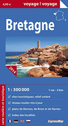 BRETAGNE: CARTE ROUTIERE TOURI