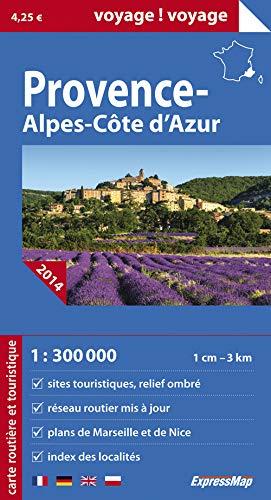 9788375466638: PROVENCE ALPES COTE D'AZUR 1/300.000 (carte papier)