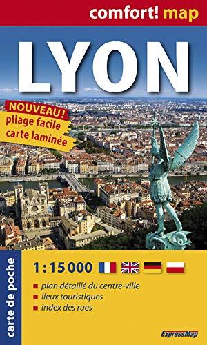 9788375466652: Lyon, plano callejero plastificado de bolsillo. Escala 1:15.000. ExpressMap