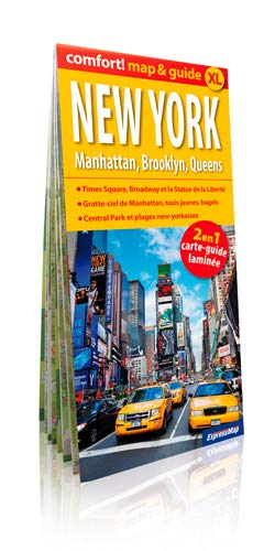 9788375468960: NEW YORK MANHATTAN BROOKLYN...(MAP&GUIDE XL) LAMINEE