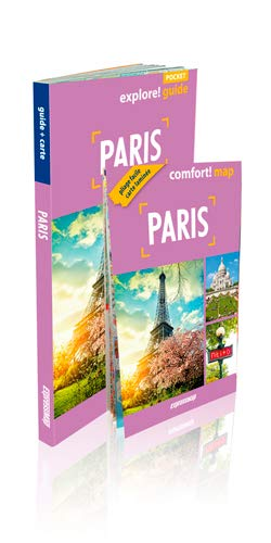 PARIS GUIDE + CARTE: GUIDE POCKET 2 EN 1