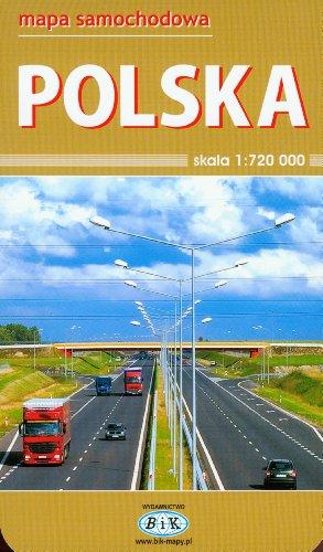 Polska. Mapa samochodowa. 1:720 000, BiK