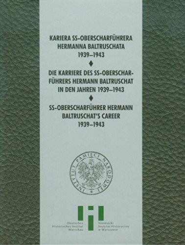 9788376297248: Kariera SS Oberscharfuhrera Hermana Baltruschata