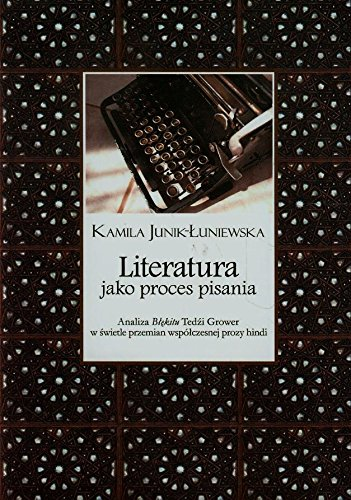 9788376384580: Literatura jako proces pisania