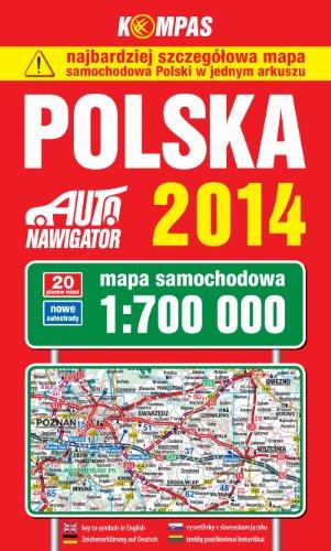Polska. Mapa samochodowa 1:700 000. Kompas
