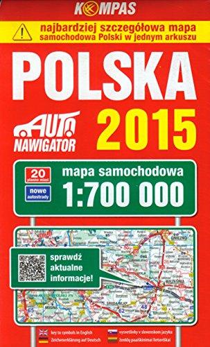 Polska 2015. Mapa samochodowa. 1: 700 000.