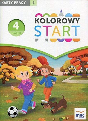 9788378739265: Kolorowy Start Czterolatek Karty pracy Czesc 1