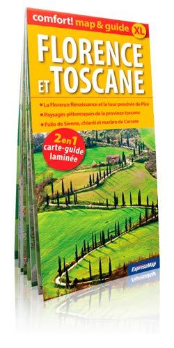 FLORENCE ET TOSCANE 2 EN 1 CARTE LAMINEE: MAP & GUIDE XL