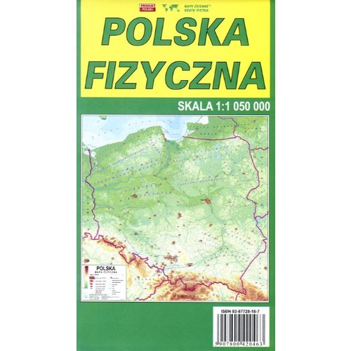 9788387728182: Physical Map of Poland