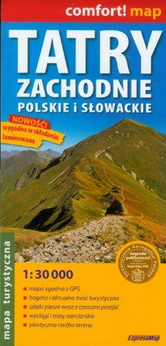 9788388112911: comfort! map Tatry Zachodnie Slowackie i Polskie. Laminowana mapa turystyczna 1:30 000