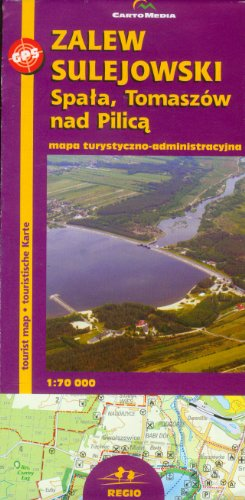 9788388467561: Zalew Sulejowski Spala Tomaszów nad Pilica 1:70:000