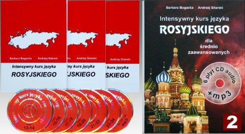 9788389035202: Intensywny kurs jezyka rosyjskiego dla srednio zaawansowanych z plytami CD i MP3