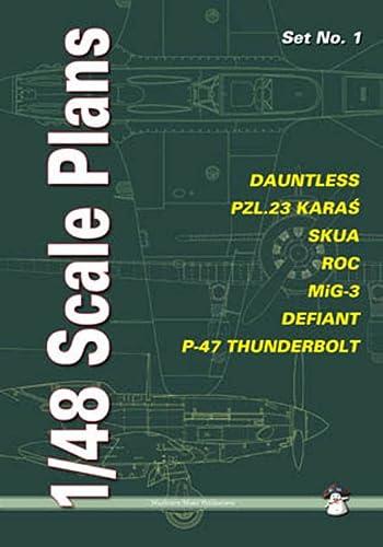 9788389450791: Dauntless, PZL.23 Karas, SKUA, ROC, MiG-3, Defiant, P-47 Thunderbolt (Scale Plans)