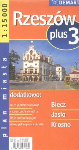 Poland City Map Rzeszow + 3 Other Cities: Biecz, Jaslo, Krosno: Demart Sp. Z.O.O.