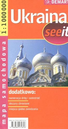 Ukraina. Mapa samochodowa. 1:1000 000 Demart