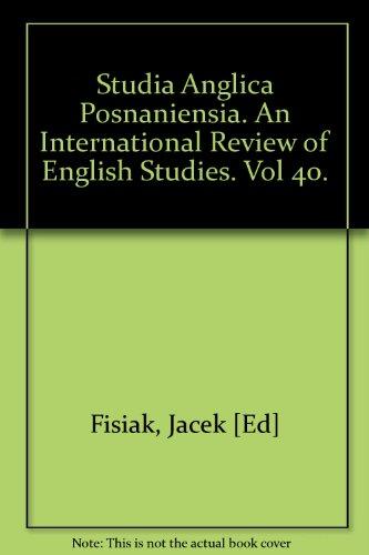 Studia Anglica Posnaniensia. An International Review of: Fisiak, Jacek [Ed]